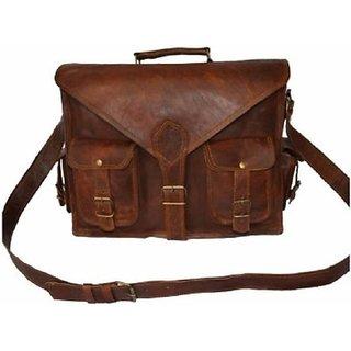 Tuzech Laptop Messenger Bag  (Brown) 16 Inches