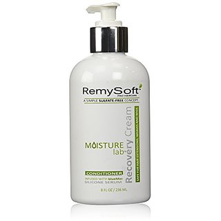 RemySoft Moisturelab Recovery Cream - Safe for Hair Extensions, Weaves and Wigs - Salon Formula Conditioner 8oz - Gentle