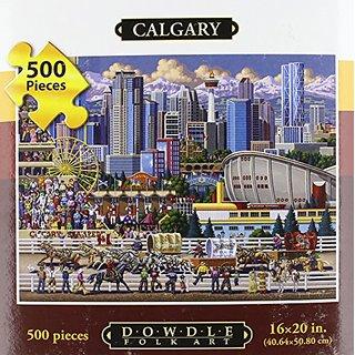 Jigsaw Puzzle - Calgary 500 Pc By Dowdle Folk Art
