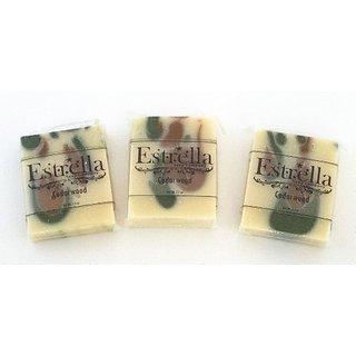 Handmade Natural Vegan Soap 3 Bars Cedarwood
