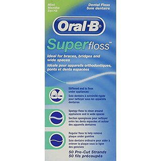 OralB Super Floss Mint Pre-Cut Strands (2 Pack)