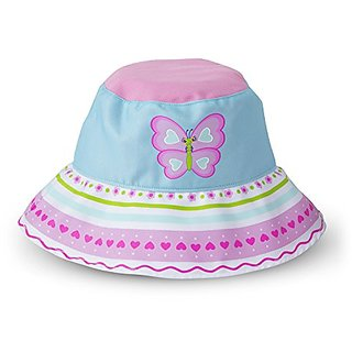 Melissa & Doug Sunny Patch Cutie Pie Butterfly Hat With Wide Brim for Sun Protection