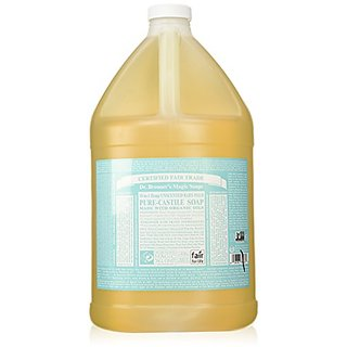 Dr. Bronners Fair Trade & Organic Castile Liquid Soap - (Baby Unscented, 1 Gallon - 2 Pack)