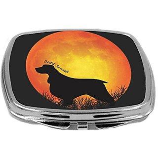 Rikki Knight Field Spaniel Dog Silhouette By Moon Design Compact Mirror