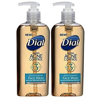(2 Pack)-Dial Acne Control Deep Cleansing Face Wash, 7.5 FL OZ each