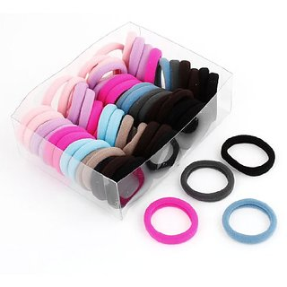 uxcell 56 x Colorful Elastic Rubber Hair Bands Ponytail Holders for Ladies