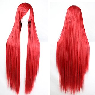 Womens/Ladies 80cm Red Color Long STRAIGHT Cosplay/Costume/Anime/Party/Bangs Full Sexy Wig(80cm,Straight,Red)