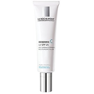 La Roche-Posay Redermic C UV SPF 25 Anti-Wrinkle Firming Facial Moisturizer with Vitamin C and Hyaluronic Acid, 1.35 Fl.