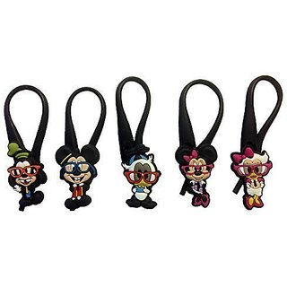 Mickey Mouse and Friends Silicone Snap Lock Zipper Pulls 5 Pcs Set #2