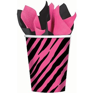 Oh So Fabulous Pink Zebra Cups