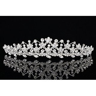Radiant Rhinestone Crystal Flower Bridal Tiara Crown T882