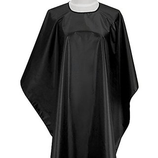 CCbeauty Black Classic Hair Cut Cape Waterproof Barbers Hair Cutting Gown