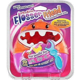 Plackers Flosser Friend Fun & Functional Flosser Holder + Flossers,