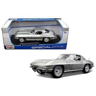 1965 Chevrolet Corvette Silver 1 18 by Maisto 31640