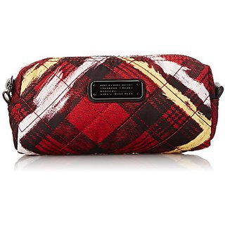 Marc by Marc Jacobs Crosby Quilt Nylon Printed Narrow Cosmetic Bag, Ruby Red Multi, One Size