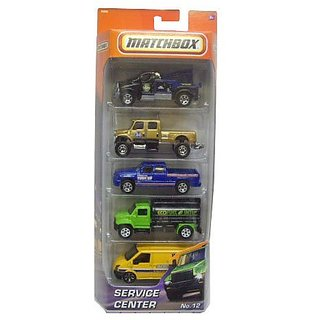 Matchbox Service Center No: 12 5pk Diecast Vehicle Set