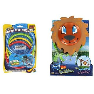 Safari Splasher Sprinkler and Dizzy Dive Rings Set