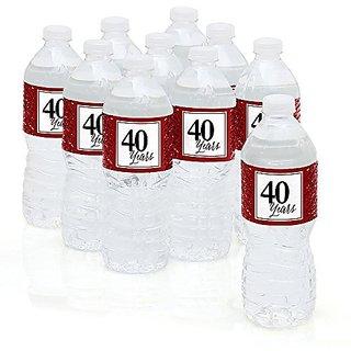 We Still Do - 40th Wedding Anniversary Party Water Bottle Sticker Labels - Set of 10