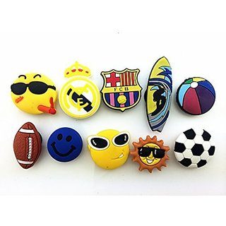 10 Football Rma&bar Surfing Movement Shoe Charms for Croc & Wristband Bracelet