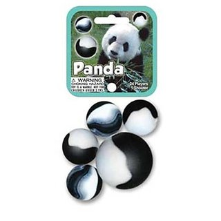 Glass Mega Marbles Panda Game Net Set (25 Piece)