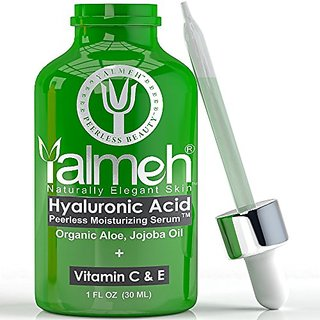 YALMEH Best Hyaluronic Acid Serum For Skin,100% Pure-Highest Quality,Facial Moisturizer with Vitamin C + E + MSM ,Anti A