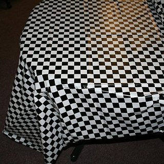 Plastic Checkered Tablecover,54