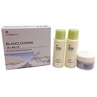 [The Face Shop] Blanclouding Cream 10ml + Chia Seed Toner 32ml + Lotion 32ml Trial Kit