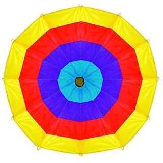 Pacific Play Tents Kids 12 Foot Kaleidochute Parachute for Indoor Outdoor Fun