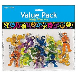 PACK OF 12 NINJA WARRIORS