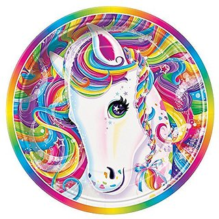 Rainbow Majesty by Lisa Frank Dessert Plates, 8ct