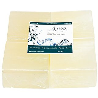 Areej Hypo-Allergenic Biodegradable Shaving Soap Base made with 100% Pure Natural Glycerin - 5 Pounds
