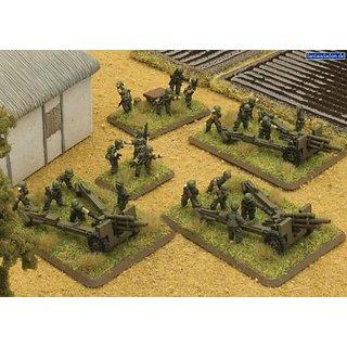 Flames Of War Wargame Model - 105mm Field Artillery Battery 1:100 Scale Vusbx09