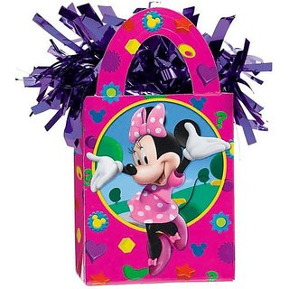 Disney Minnie Mouse Mini Tote Balloon Weight - 5.5 In. x 3 In. Each [Toy] [Toy] by KidsPartyWorld.com