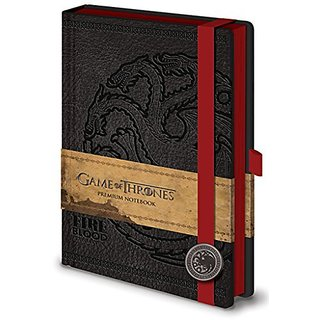 Game of Thrones Fire Blood Targaryen HBO Medieval Fantasy TV Series Premium Journal Notebook - 6x8