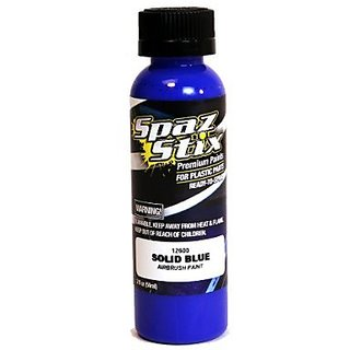 Spaz Stix Solid Airbrush Paint, Blue, 2-Ounce