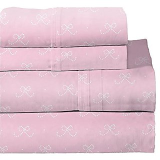 Lullaby Bedding 200-XBrina Ballerina Cotton Printed Sheet Set, Twin X-Large