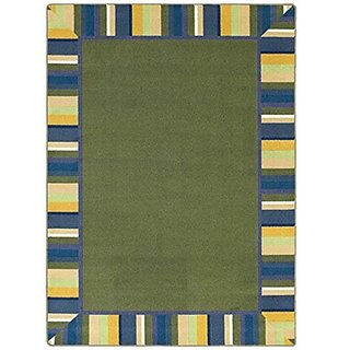 Joy Carpets Kid Essentials Infants & Toddlers Clean Green Rug, Bold, 310