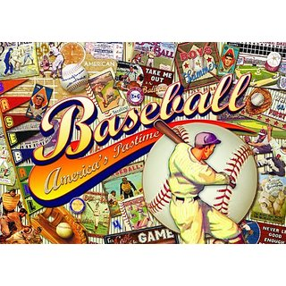Buffalo Games Nostalgia: Baseball - 500 Piece Jigsaw Puzzle by Buffalo Games