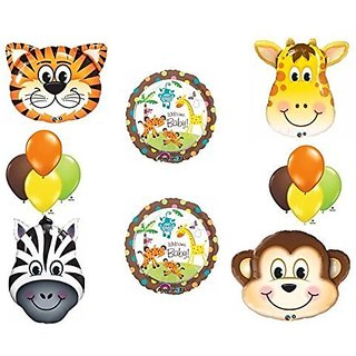 Jungle Safari Welcome Baby Shower Balloon Decoration Kit