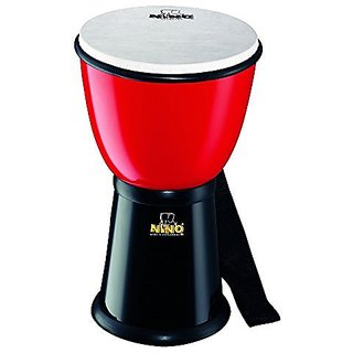 Nino Percussion NINO18R BK 8-Inch ABS Plastic Djembe with Synthetic Head, Red Black