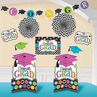 Amscan Dream Big Graduation Party Decorating Kit, Multicolor, 15.7