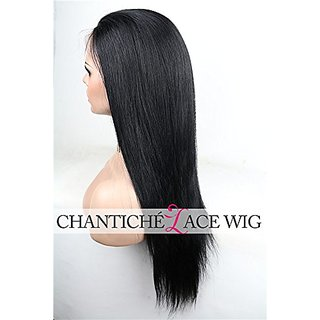 Chantiche Silky Straight Lace Front Wig Natural Looking Brazilian Remy Human Hair Wigs 130% Density Medium Cap Size Medi