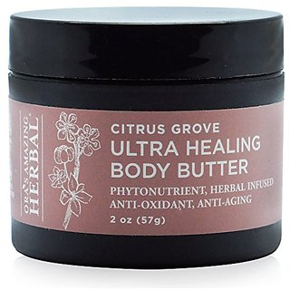 Ultra Healing Shea Moisturizer Body Butter Hand Cream With Soothing Essential Oils (Citrus Grove Scent 2 oz) Paraben Fre