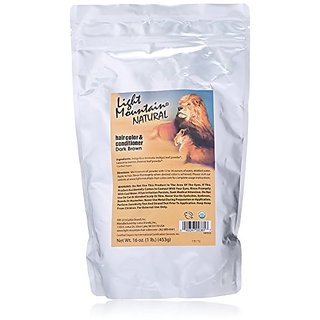 Light Mountain Natural Bulk Hair Color and Conditioner, Dark Brown, 16 Ounce