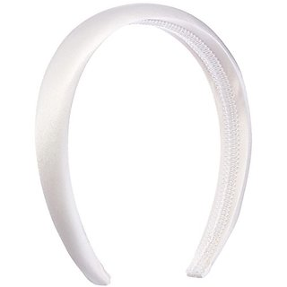 Darice V35565-01 Headband with Padded Plain Fabric, 25mm, White