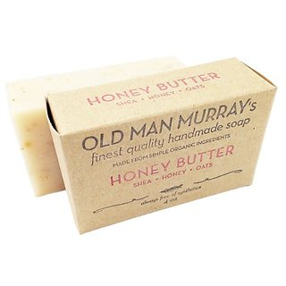 Honey Butter Shea, Honey, Oats Unscented All-Natural Soap (2 Bars)