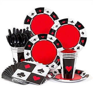 Casino Party Supplies Standard Kit -Serves 8