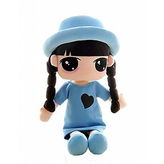 HWD Adorable Fanshion Julia Wearing a Hat 17 inch Plush Stuffed Toys Doll,DIY toys ,Clothes is Removable.A Good Gift for