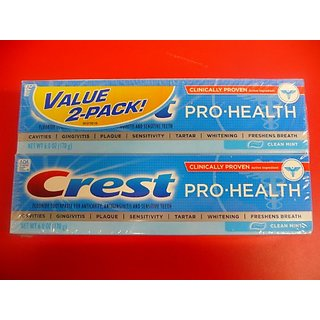 Crest Pro-Health Toothpaste-Clean Mint-6 oz, Twin Pack