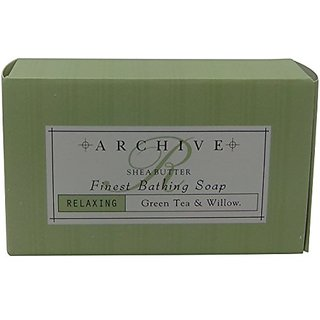 Archive Green Tea & Willow Relaxing Bath Soap lot of 12 Each 2.25oz bars with Shea Butter. Total of 27oz